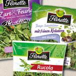 Auswahl an Florette Salaten