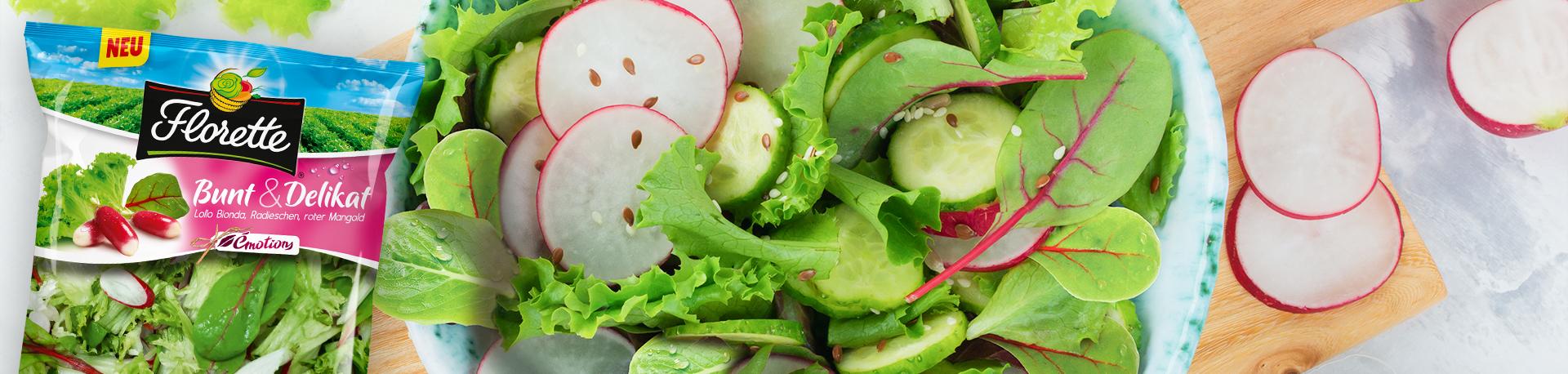 Florettes neue Salatmischung Émotions Bunt & Delikat