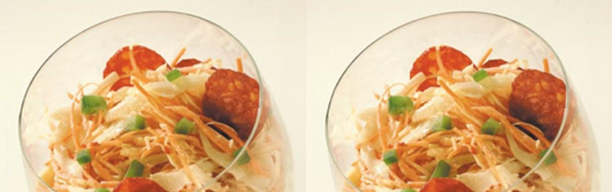 Coleslaw-Salat mit spanischer Note