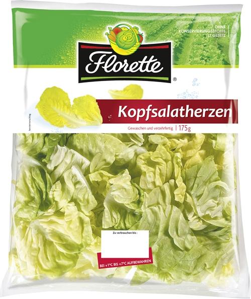 Florette-Salat-Kopfsalatherzen.