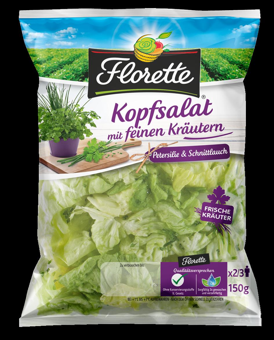 Produktfoto: Florette Kopfsalat mit feinen Kräutern