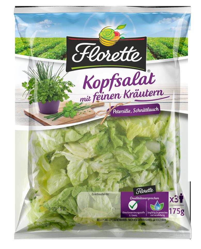 Florette Kopfsalat mit feinen Kräutern