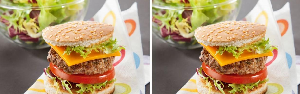Mini-Burger und gemischter Salat