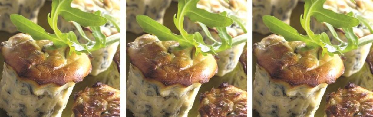 Italienische Ricotta-Muffins mit Rucola