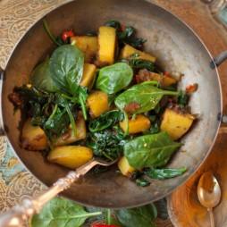 Foto - Saag aloo − Scharfer Gruß aus der indischen Küche -