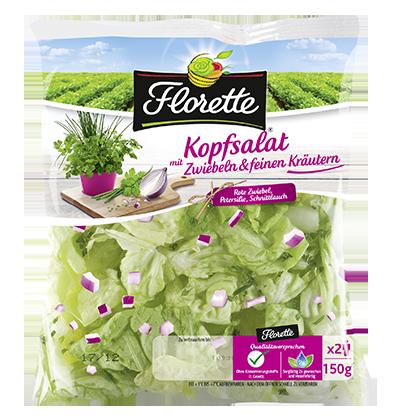 Kopfsalat mit Zwiebeln& feinen Kräutern 150g Kopie