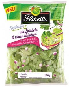 Florette Kopfsalat mit Zwiebeln & feinen Kräutern