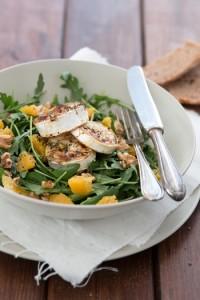 Salat gesund - Rucola mit Orangenfilets - Florette - Dreierlei Liebelei