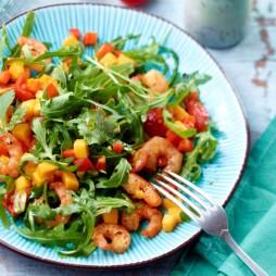 Foto - Rucola-Garnelen-Salat mit Mango -
