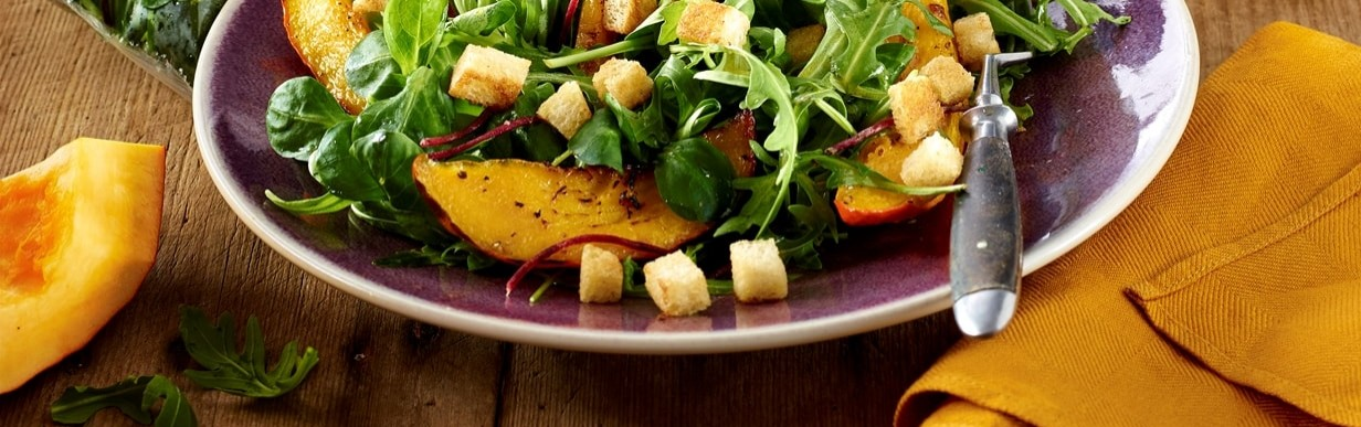 Fein & Pikant Salat mit Kürbis