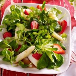 Foto - Feldsalat mit Spargel und Erdbeeren -