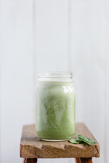Foto - Grüner Superfood Smoothie mit Baby Spinat -