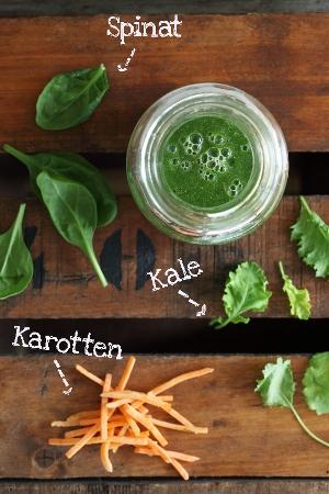 Kale-Smoothie Baby Grünkohl, Baby Spinat, Karotten