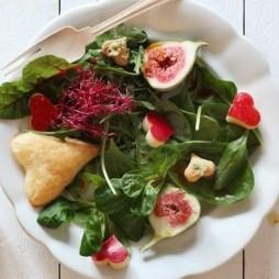Foto - Salat zum Valentinstag -