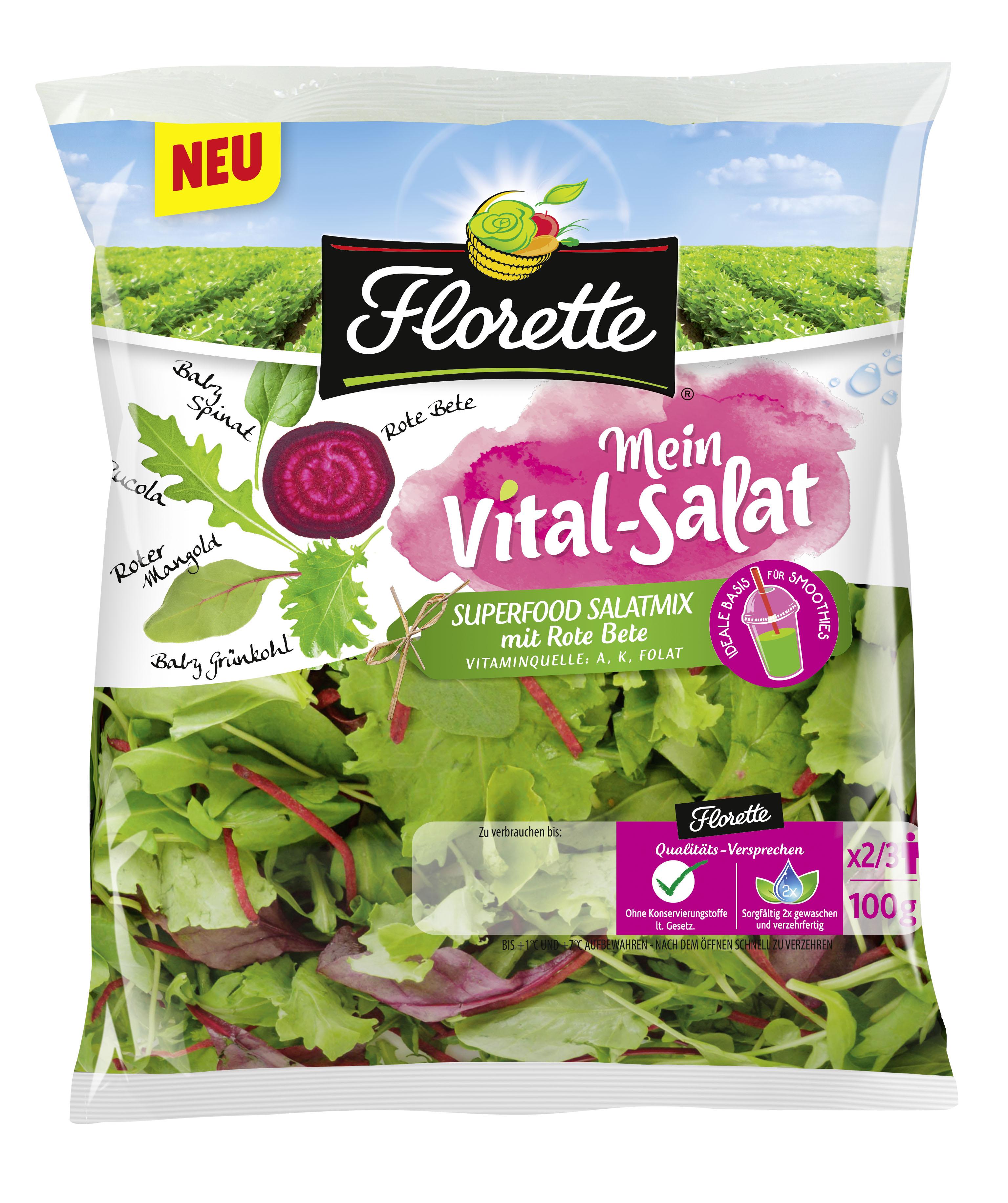 Florette Mein Vital-Salat Superfood Salatmix mit Roter Bete