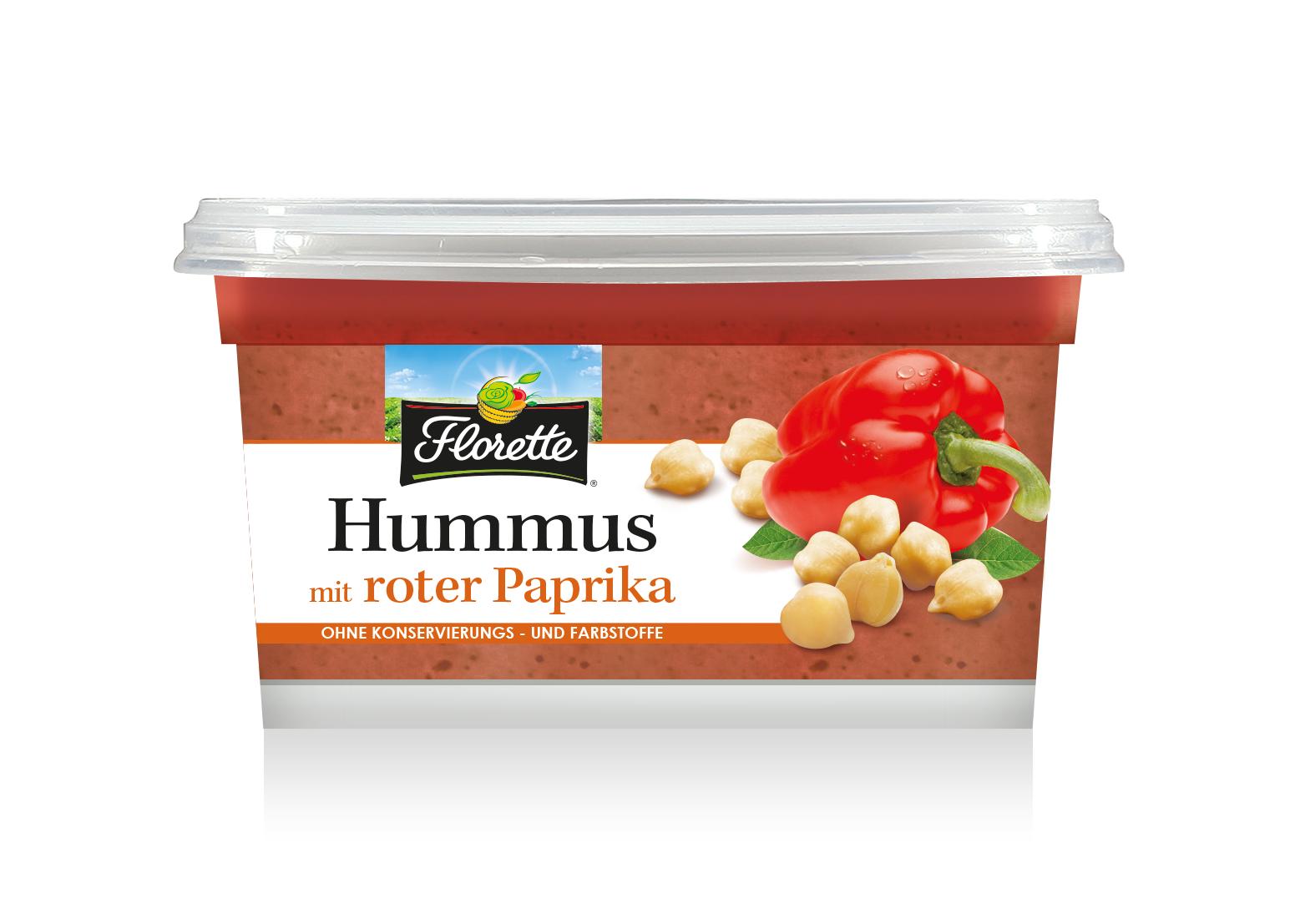 Hummus mit roter Paprika 3D HD