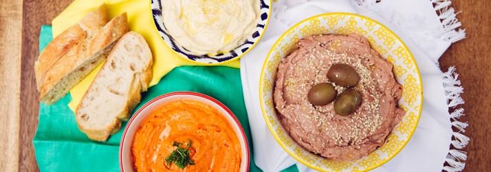 Hummus mit Oliven