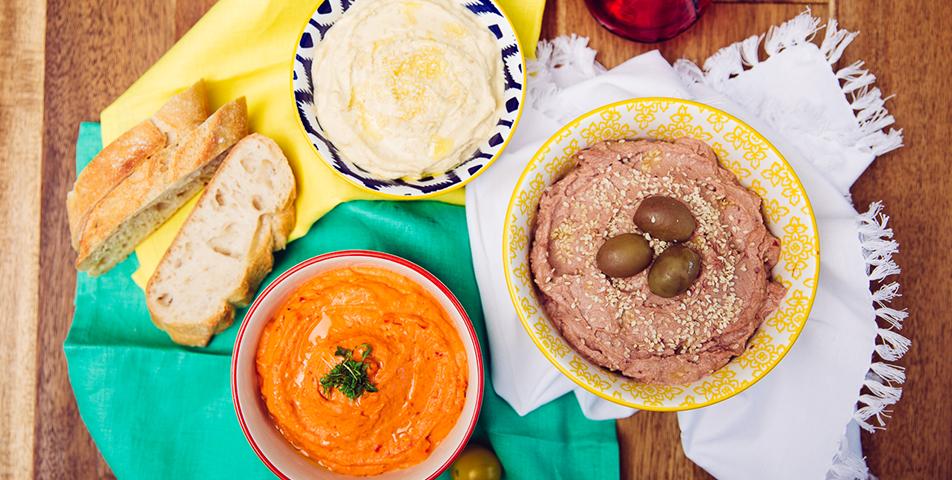 Italienische Hummus-Bowl