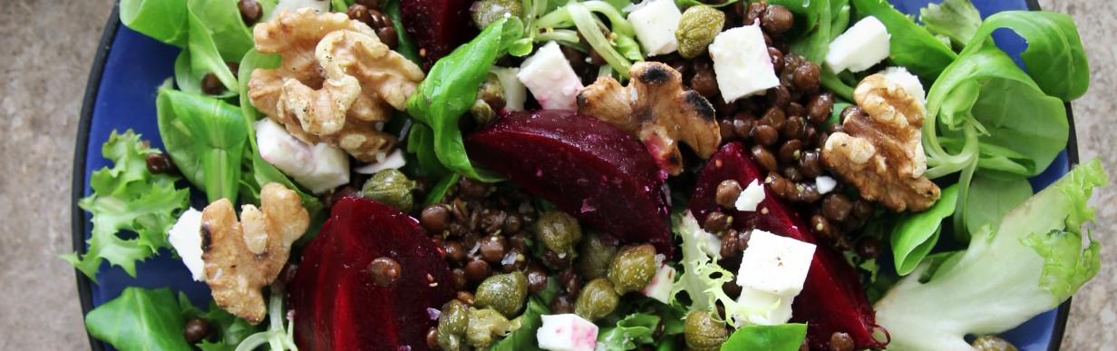 Rote Bete Linsen Salat