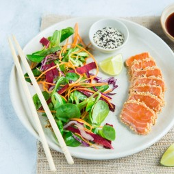 Foto - Lachs-Tataki mit Rohkost Winter Kreation -