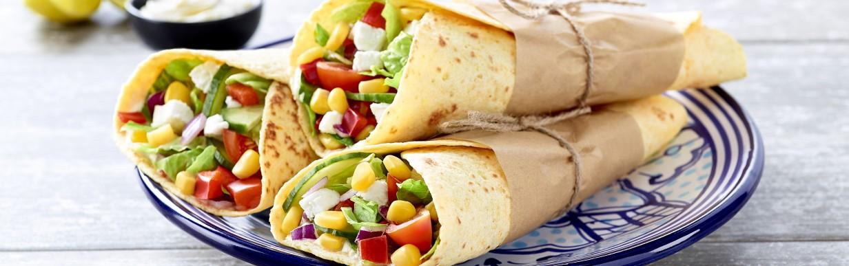 Veggie-Burrito mit Ziegenkäse
