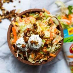 Foto - Sommer-Krautsalat mit Joghurt-Senf-Dressing und Ziegenfrischkäse -