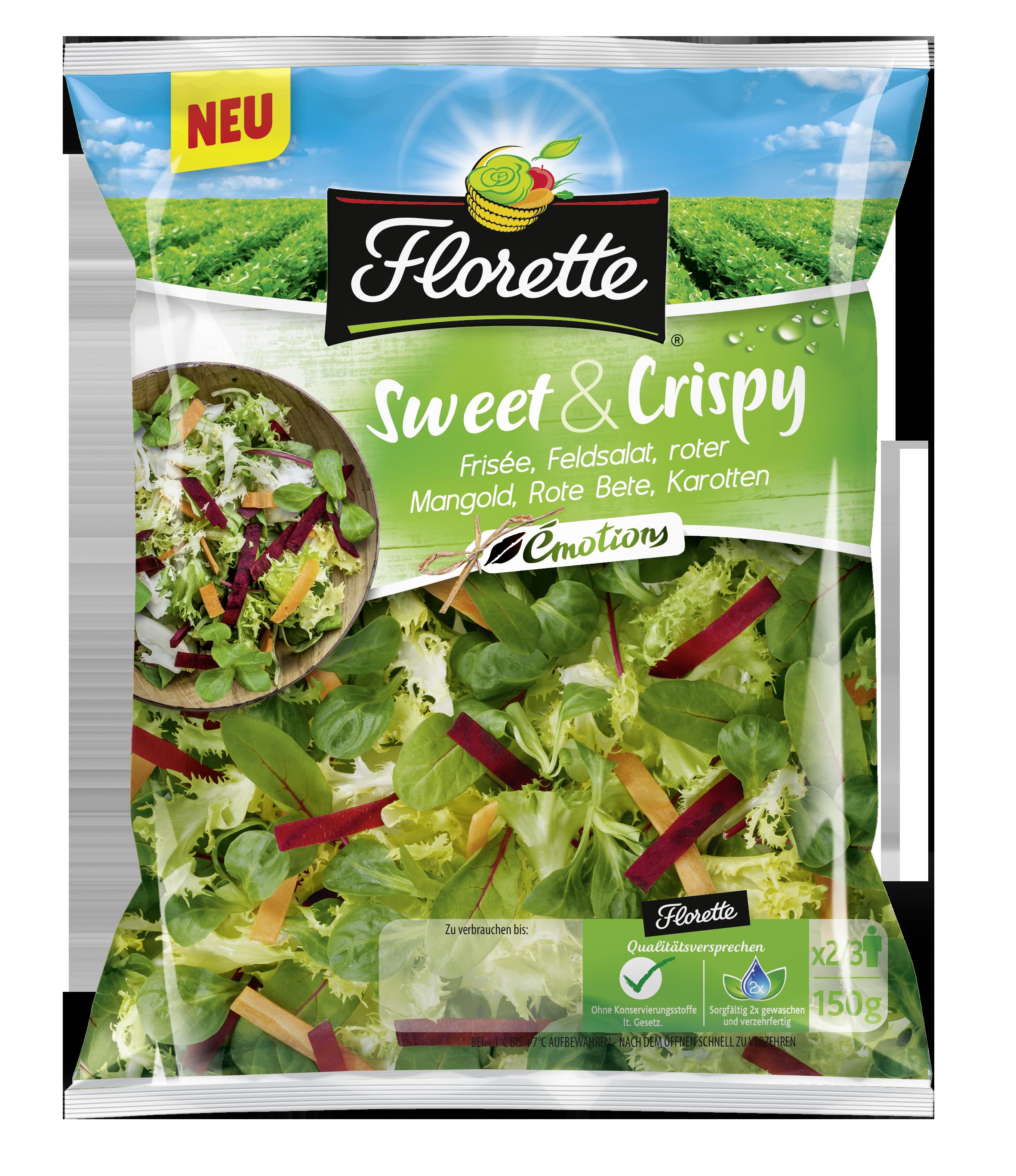 Packshot Florette Émotions Sweet & Crispy