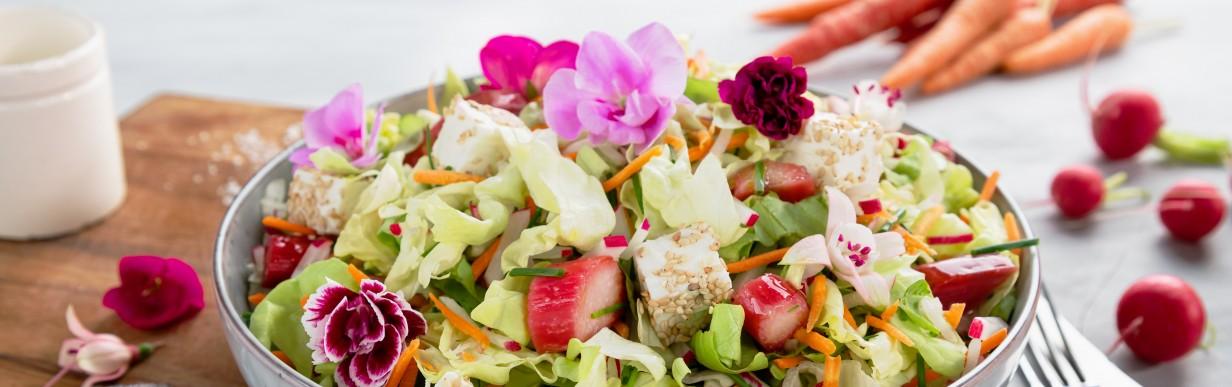 Spritziger Frühlingssalat mit knackigem Rhabarber