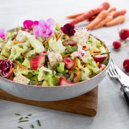 Foto - Spritziger Frühlingssalat mit knackigem Rhabarber -