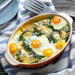 Foto - Versunkene Eier im Spinatnest -