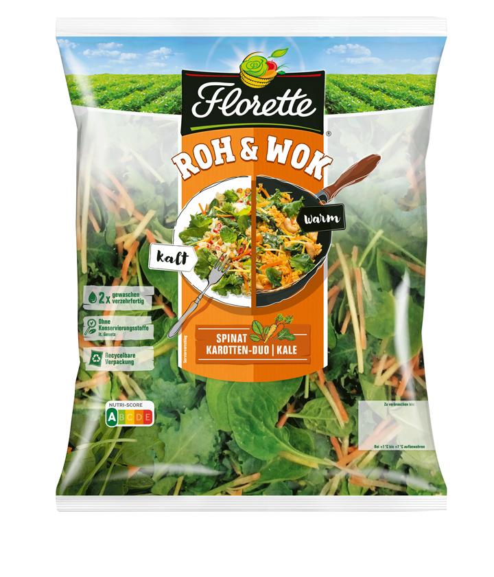 Spinat Kale Karotten Salat