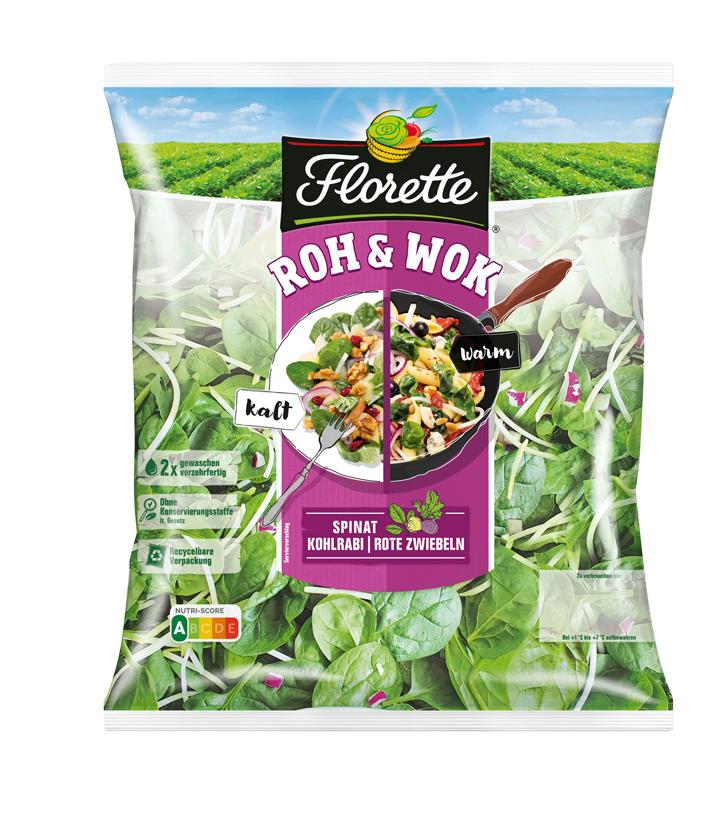 Spinat Kohlrabi Zwiebel Florette