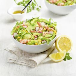 Foto - Garnelen- und Gurkensalat mit Zitronendressing -