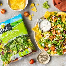 Foto - Mexikanischer Salat mit Bohnen und Tortilla Chips -
