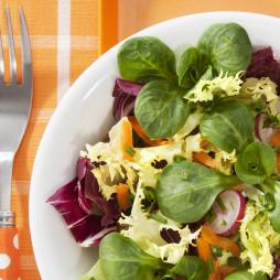 Foto - Salat mit Radieschen, Möhren und Schnittlauch -