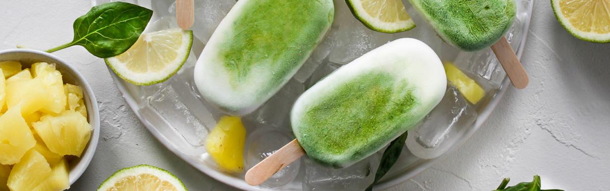 Pina Colada Spinat Eis (Vegan)