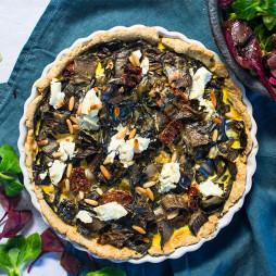 Foto - Mangold-Quiche mit Ziegenfrischkäse und Florette-Winter-Genuss-Beilagensalat -