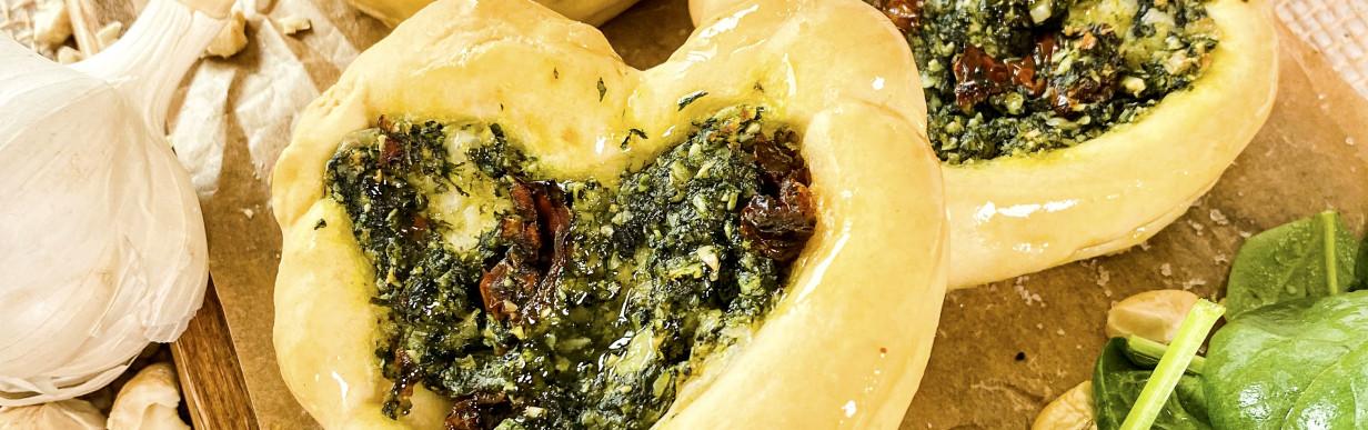 Vegane Teigtaschen mit Spinat