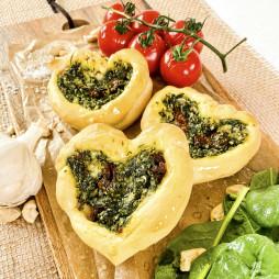 Foto - Vegane Teigtaschen mit Spinat -